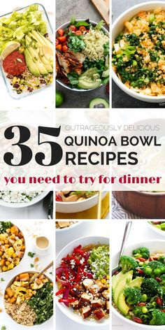 Bored with the same old quinoa recipe? Then you've got to try one of these OUTRAGEOUSLY delicious quinoa bowls! Packed with superfoods, easy to make and healthy too - there's a recipe for every type on this list. #quinoabowls #quinoarecipe #simplyquinoa