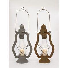 Captivating Metal Glass Lantern 2 Assorted