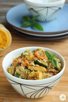 Insalata di Quinoa e Pollo al Curry | Aryblue Italian Recipes, New Recipes, Healthy Recipes, Healthy Dishes, Healthy Eating, Healthy Food, Fast And Slow, Best Side Dishes, New Cooking