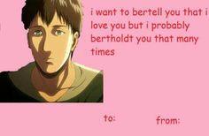 Shingeki no Kyojin valentines. xD <3