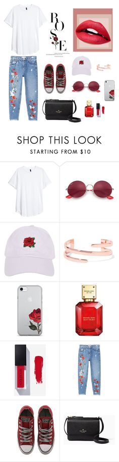 """""""🌹"""" by deichaac on Polyvore featuring Ray-Ban, Armitage Avenue, Kenneth Jay Lane, Michael Kors, MANGO, Converse and Kate Spade"""