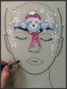 One Stroke Face Painting Snowman