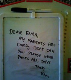 There were many, many instances where this note should have been written somewhere in a certain apartment. @Anna Lewis