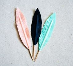 feather toothpicks // made with washi tape, cute in a cocktail