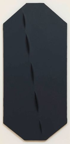 ^LUCIO FONTANA Concetto spaziale, Attese (Spatial Concept: Expectations), 1959 Acrylic on canvas 50 9/16 x 23 5/8 x 2 ¾ inches (128.5 x 60 x 7 cm)  Photo by Rob McKeever