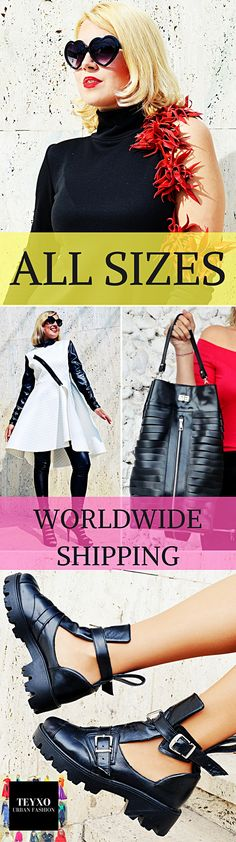 Your own custom made fashion at your fingertips! All sizes available at no extra cost! Express shipping worldwide! Everything you wish from maxi dresses and skirts to jackets, jumpsuits and coats plus genuine leather boots, bags and jewelry!