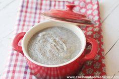 """Crema de champiñones via """"Cocinando entre olivos"""" #cremas #champiñones #cocinandoentreolivos"""