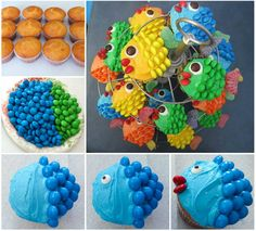 How cute are these fish cupcakes! They are perfect for your Birthday Pool Party. Check out--> http://wonderfuldiy.com/wonderful-diy-easy-cute-fish-cupcakes/