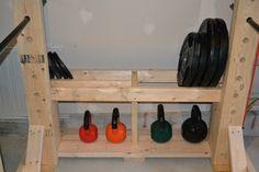 Weight storage (plates & kettle bells)