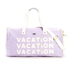the getaway duffle bag - vacation from ban.do
