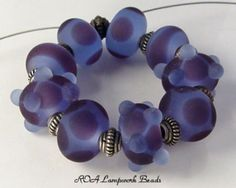 Purple Lampwork Beads
