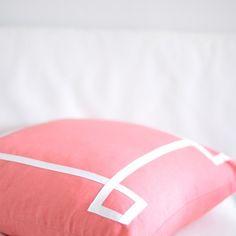 coral pillow--16x26