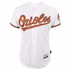 Baltimore Orioles MLB Majestic Men's White Authentic On-Field Cool Base Jersey (40)