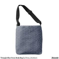 Triangle Blue Cross Body Bag