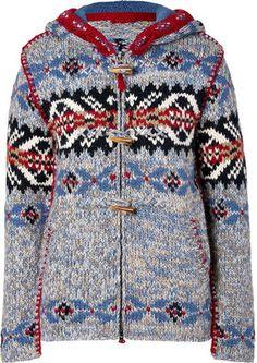 ShopStyle: Parajumpers Grey-Multi Ardee Wool Cardigan