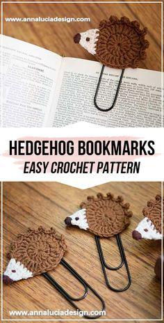 crochet hedgehog bookmarks pattern - easy crochet bookmark pattern for beginners Knitting For BeginnersKnitting For KidsCrochet PatronesCrochet Bag Kawaii Crochet, Cute Crochet, Crochet Motif, Crochet Crafts, Doilies Crochet, Beginner Crochet Projects, Crochet For Beginners, Knitting Projects, Crochet Hedgehog
