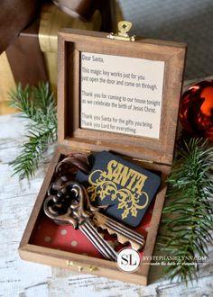 Magical Santa Keys | Christmas house keys for santa