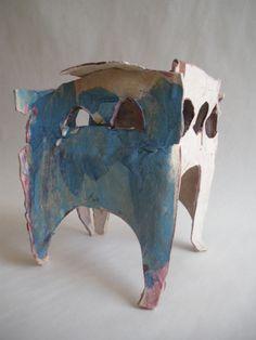 marianne castelly,  cabane en terre-papier/réduction 1260°