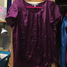 ❤️ Dark purple silk top Fits medium to large. From Macy's. NY Collection Tops