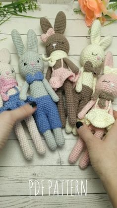 Amigurumi bunny toy crochet PATTERN for baby shower favors. Amigurumi pattern crochet animals ideal for Baby toys and Newborn photo prop Stuffed Bunny PATTERN amigurumi crochet - amigurumi toy - crochet animal pattern - Plush toy pattern Crochet Animal Patterns, Stuffed Animal Patterns, Crochet Patterns Amigurumi, Crochet Animals, Crochet Baby Toys, Crochet Bunny, Crochet Dolls, Plush Pattern, Bunny Toys