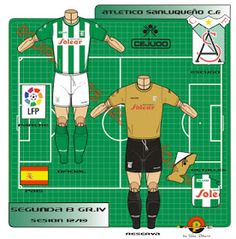 Atletico Sanluqueno CF of Spain kits for Football Kits, Spain, Guys, Logos, Shirt, Fictional Characters, Soccer Kits, Soccer Equipment, Dress Shirt