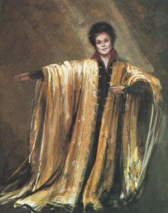 Design for Marilyn Horne as Handel's Orlando. The opera was full of all sorts of transformations, mad scenes etc & hence a great opportunity for the design team.
