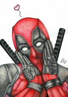 #Deadpool #Fan #Art. (Deadpool) By:HedvikaKubu. (THE * 5 * STÅR * ÅWARD * OF: * AW YEAH, IT'S MAJOR ÅWESOMENESS!!!™) [THANK U 4 PINNING!!!<·><]<©>ÅÅÅ+(OB4E)                                    https://s-media-cache-ak0.pinimg.com/474x/ac/8e/ff/ac8eff50ceb907ac8c1533c9cee5f4c3.jpg