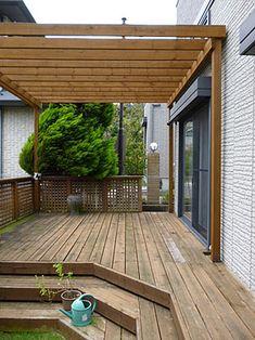 Outdoor Pergola, Backyard Pergola, Outdoor Rooms, Outdoor Decor, Porches, Mobile Home Exteriors, Indoor Farming, Garden Design, House Design