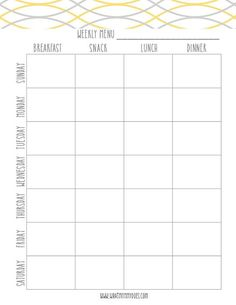 Free Printable Weekly Meal Planning Templates (and every week's value of themed me. Free Printable Weekly Meal Planning Templates (and every week's value of themed meal night time concepts! Weekly Meal Plan Template, Meal Planner Template, Meal Planner Printable, Weekly Meal Planner, Free Meal Plans, Dinner Planner, Grocery List Templates, Dinner Menu, Meal Planning Templates