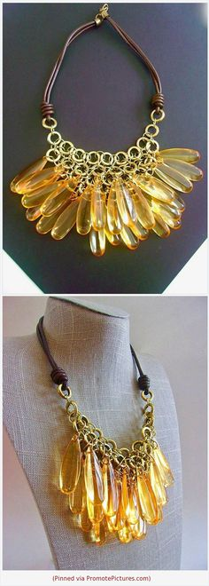 Estate jewelry Gift for her Vintage Necklace.Bib necklace.Brass  discs strung with 5 strands of Leather .Unique Statement necklace.17 inch