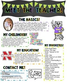 Looking for a cute newsletter you can hand out during open house or on the first day of school for your students and parents to get to know you??? This completely editable newsletter is what you need!! Customize the headers and the bodies of text! I put my information in there as an example but be free to change the cliparts and wordings to make it your