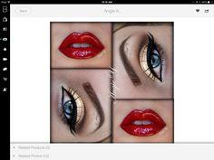 Red lips && gold eyeshadow