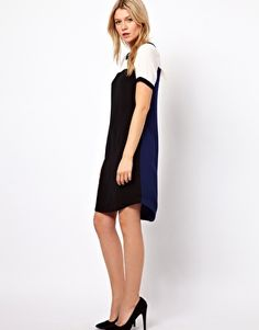 Oasis Tipped Sporty Dress ASOS