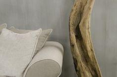 Grey chalked wall stripes