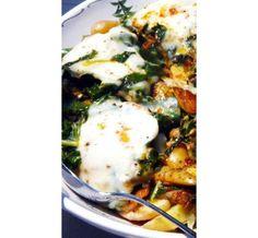 Swiss Chard and Potato Leek Hash - Vegetarian Main Course Vegetarian Main Course, Vegetarian Main Dishes, Vegetarian Dinners, Vegetarian Cooking, Vegetarian Recipes, Healthy Recipes, Vegetarian Sandwiches, Vegetarian Breakfast, Free Recipes