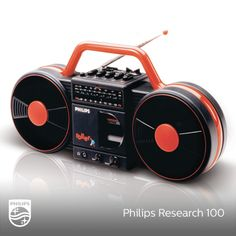 Nothing cooler that our Roller Radio in 1980s | #Research100  Philips' more bad ass equivalent to the yellow Moving Sound radio.