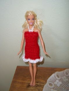 My Turn (for us): Free Barbie Valentine Dress Instructions - crochet
