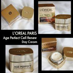 MichelaIsMyName: L'OREAL PARIS Age Perfect Cell Renew Day Cream REV...