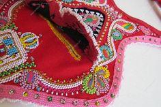 Algibeira pormenor Minho, Folk Costume, Costumes, Shadows, Embroidery, Fabric, How To Make, Diy, Inspiration
