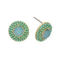 Greenbeads Mint Beaded Stud Earrings mnS0Oy