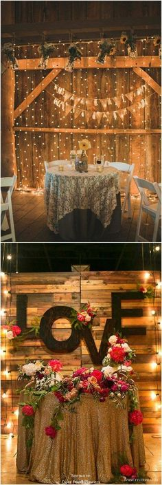 Rustic country wedding ideas - rustic sweetheart table decor for wedding reception / http://www.deerpearlflowers.com/top-20-rustic-country-wedding-sweetheart-table-ideas/ #WeddingIdeasInvitations