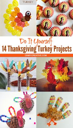 These 14 Thanksgiving Turkey Projects are fun for the kids and the home! The more handmade the better! There are a few edible Thanksgiving food ideas too!