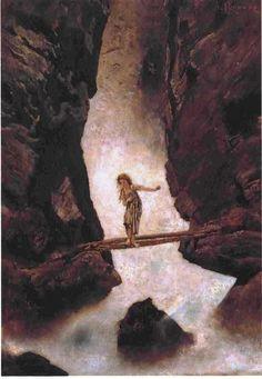 Anton Romako - At the Waterfall