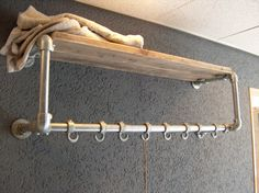 Coat rack from reclamed wood and pipes - This is really amazing clothing rack and shelf made with Kee Klamp fittings