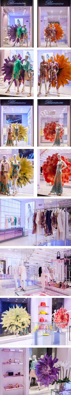 Blumarine Milan Boutique Windows - February 2015 #mfw