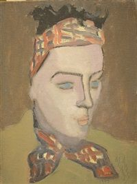 Girl in Scarf by Milton Avery 1945