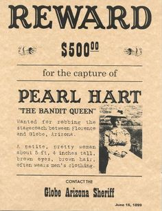 Arizona Wanted Posters 1880s - Google Search