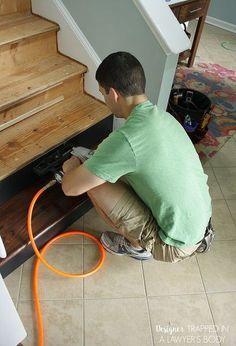 diy staircase renovation completed in 1 weekend, diy, hardwood floors, home improvement, stairs