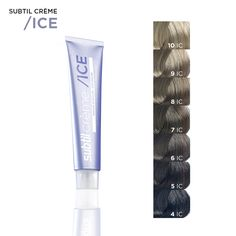 subtil ice crme permanent hair color chart - Subtil Green Coloration