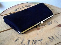 Vintage black purse / 60s Little Black Purse clutch by RefugeHeart